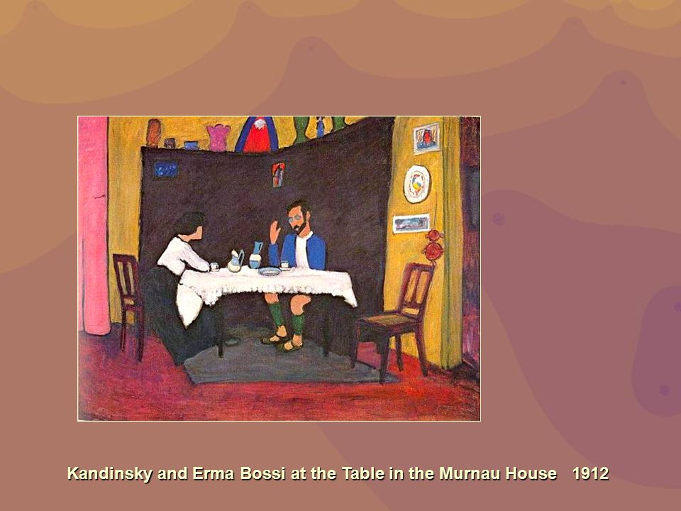 Kandinsky and Erma Bossi at the Table in the Murnau House 1912