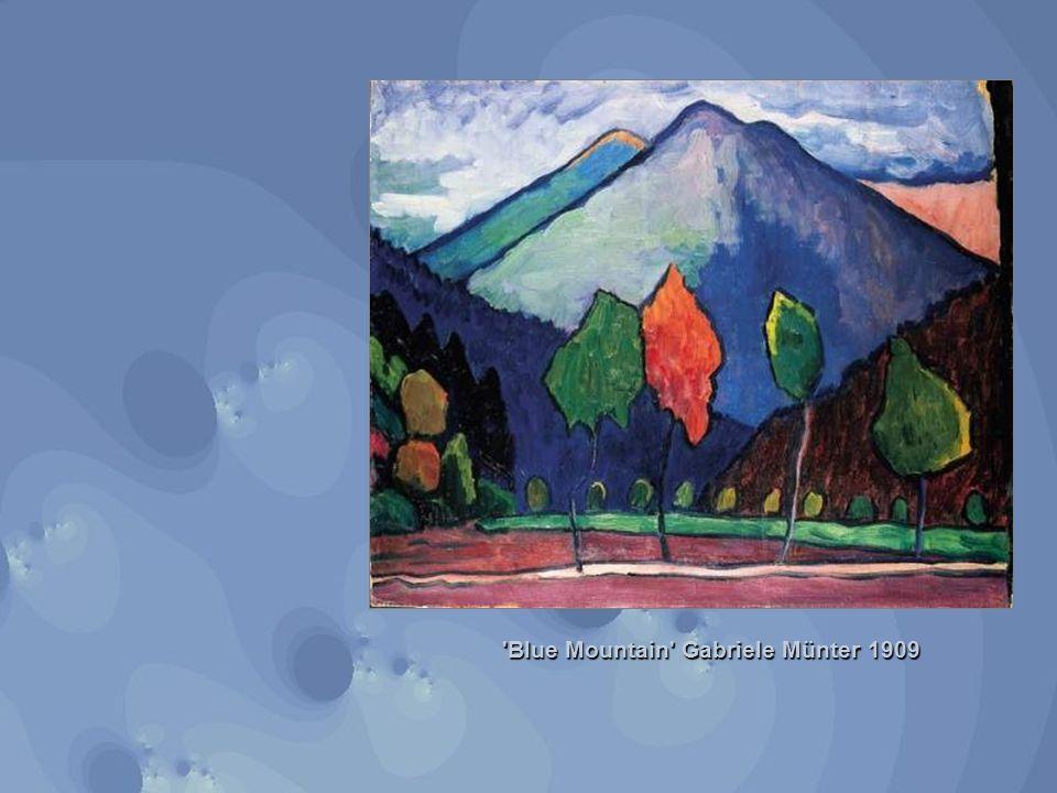 Blue Mountain Gabriele Münter 1909