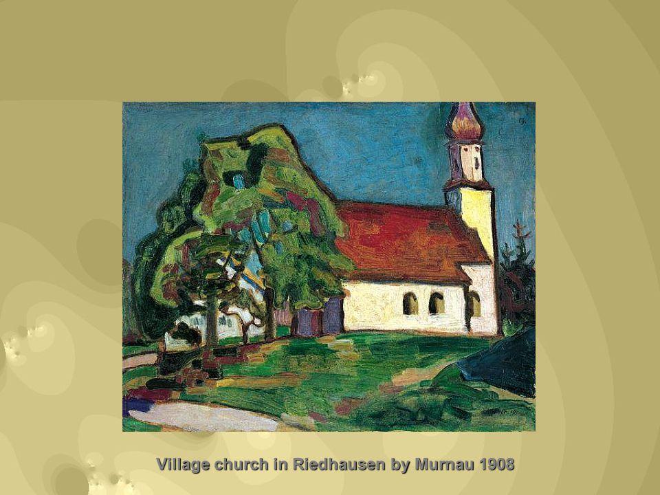 Village church in Riedhausen by Murnau 1908