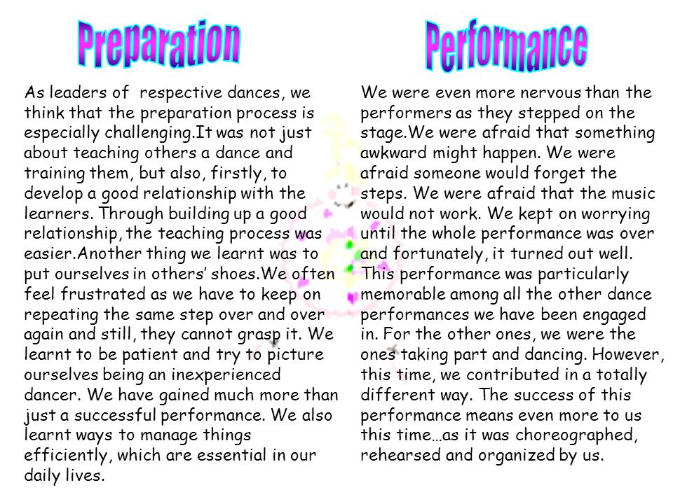 As leaders of respective dances, we think that the preparation process is especially challenging.It was not just about teaching others a dance and tra
