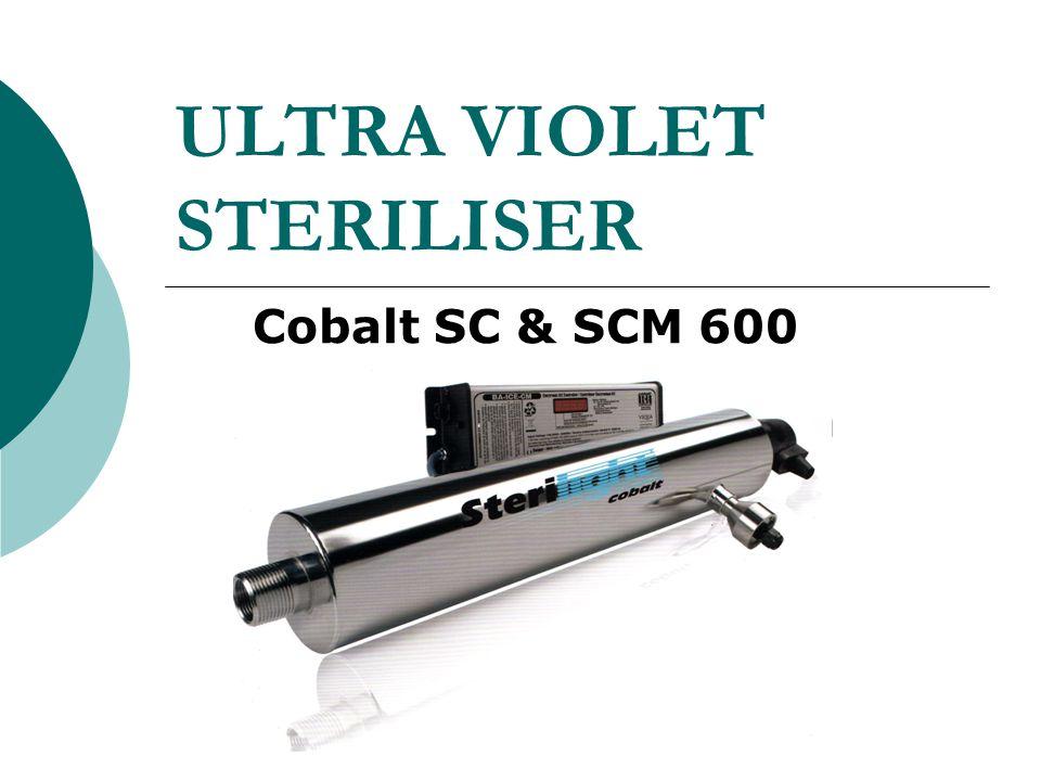 ULTRA VIOLET STERILISER UV24 - 22/58 US gpm Cobalt SC & SCM 600
