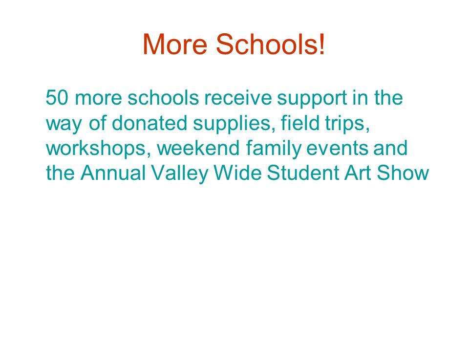 More Schools.