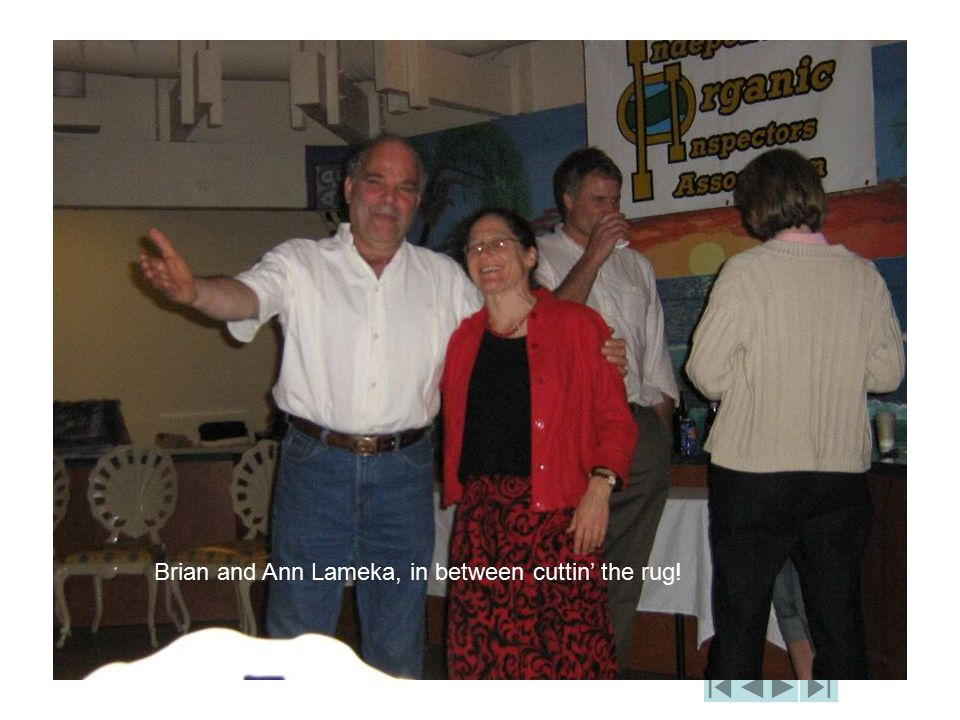 Brian and Ann Lameka, in between cuttin' the rug!