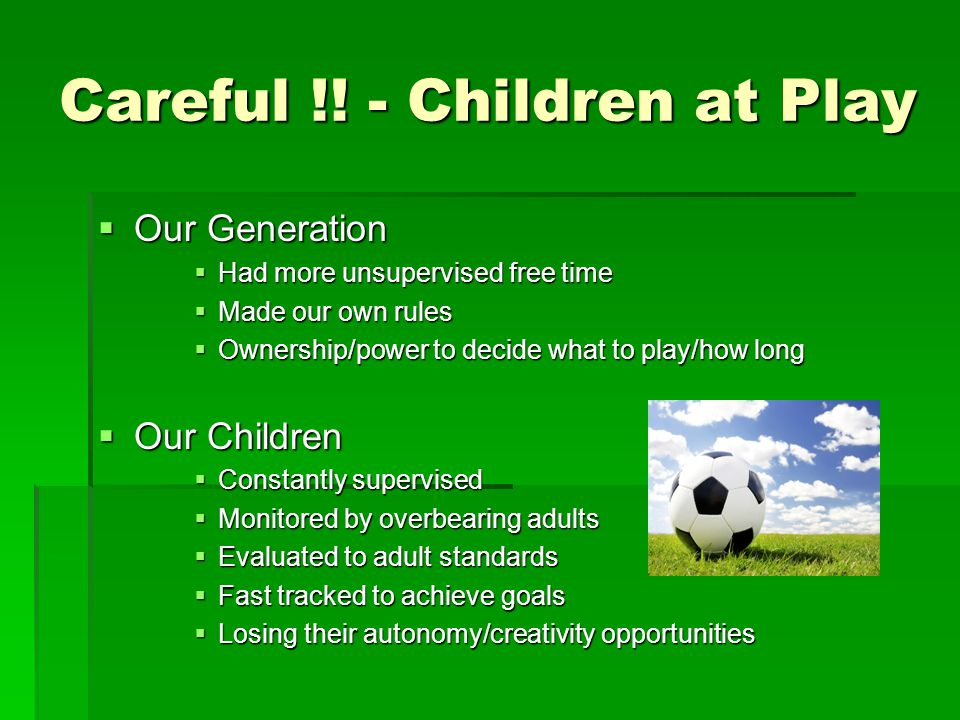 YOUTH SPORT HIJACKED BY ADULTS  WHOSE NEEDS ARE CONSIDERED.