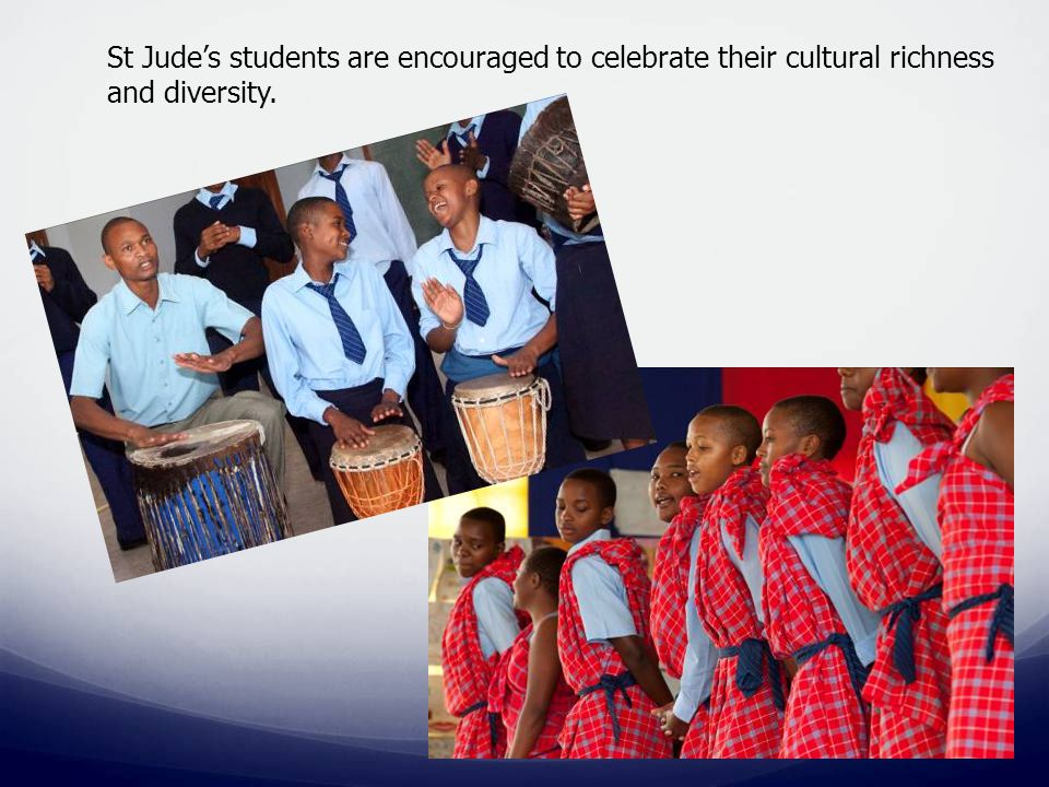 St Jude's students are encouraged to celebrate their cultural richness and diversity.
