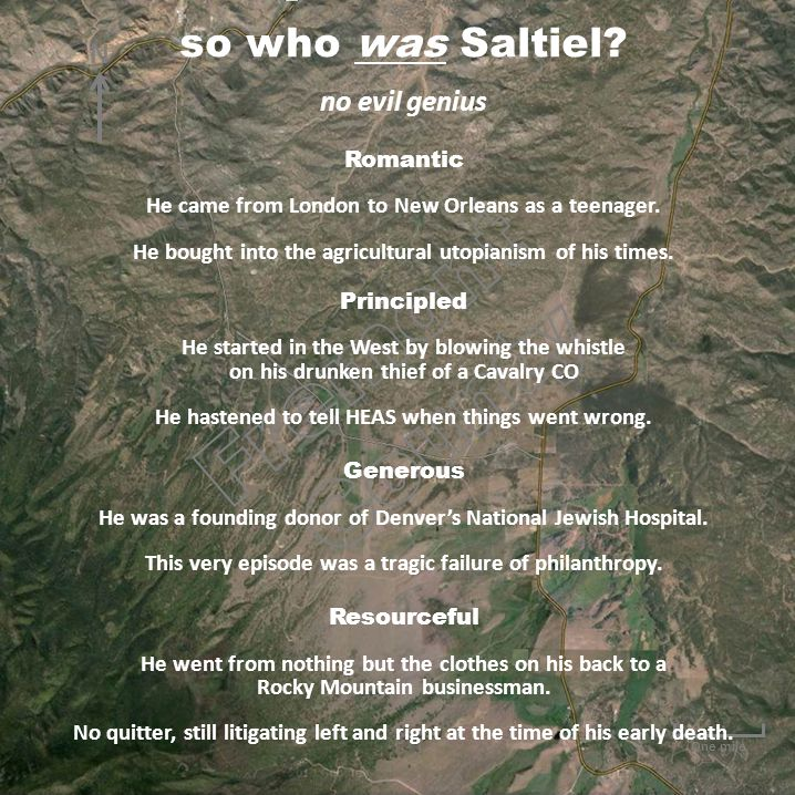 One mile N so who was Saltiel.