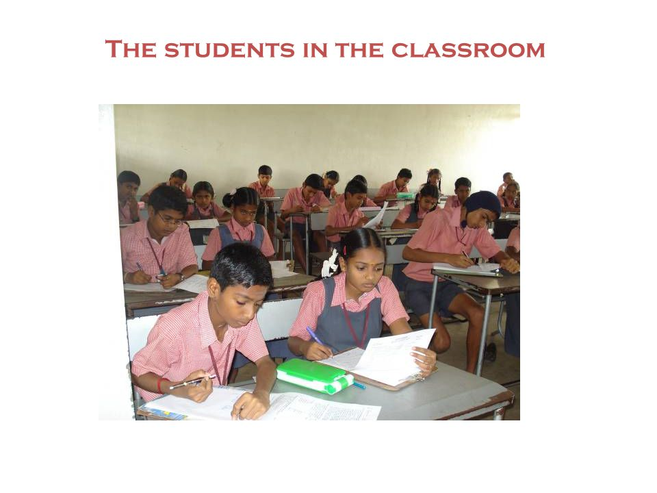 The students in the classroom