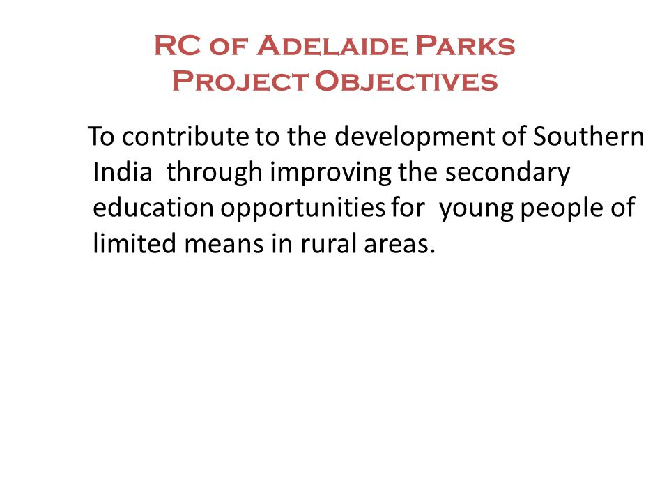 RC of Adelaide Parks AGN School Scholarships Project Scholarships - Donation of six scholarships to be awarded to needy, gifted year 8 students.