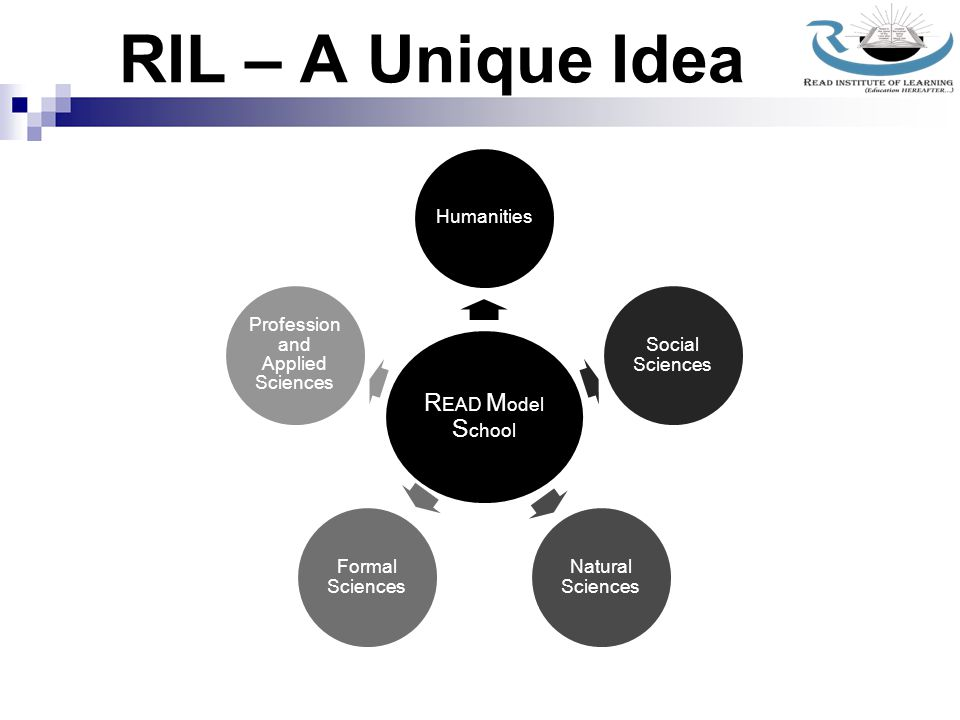 RIL – A Unique Idea Basic Education Humanities Social Sciences Natural Sciences Formal Sciences Profession and Applied Sciences