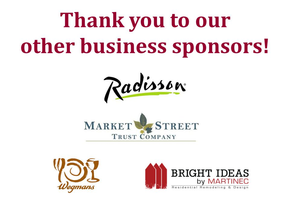 Thank you to our other business sponsors!