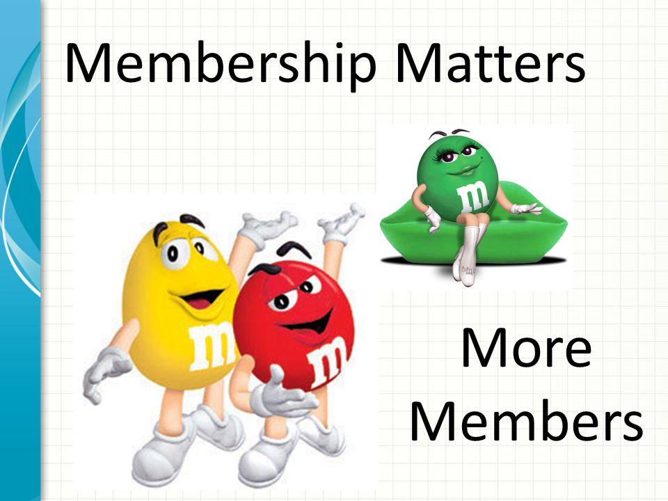 Membership Matters More Members