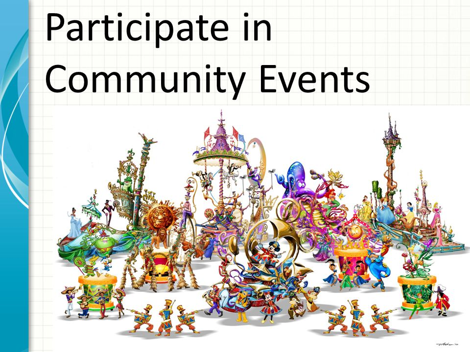 Participate in Community Events