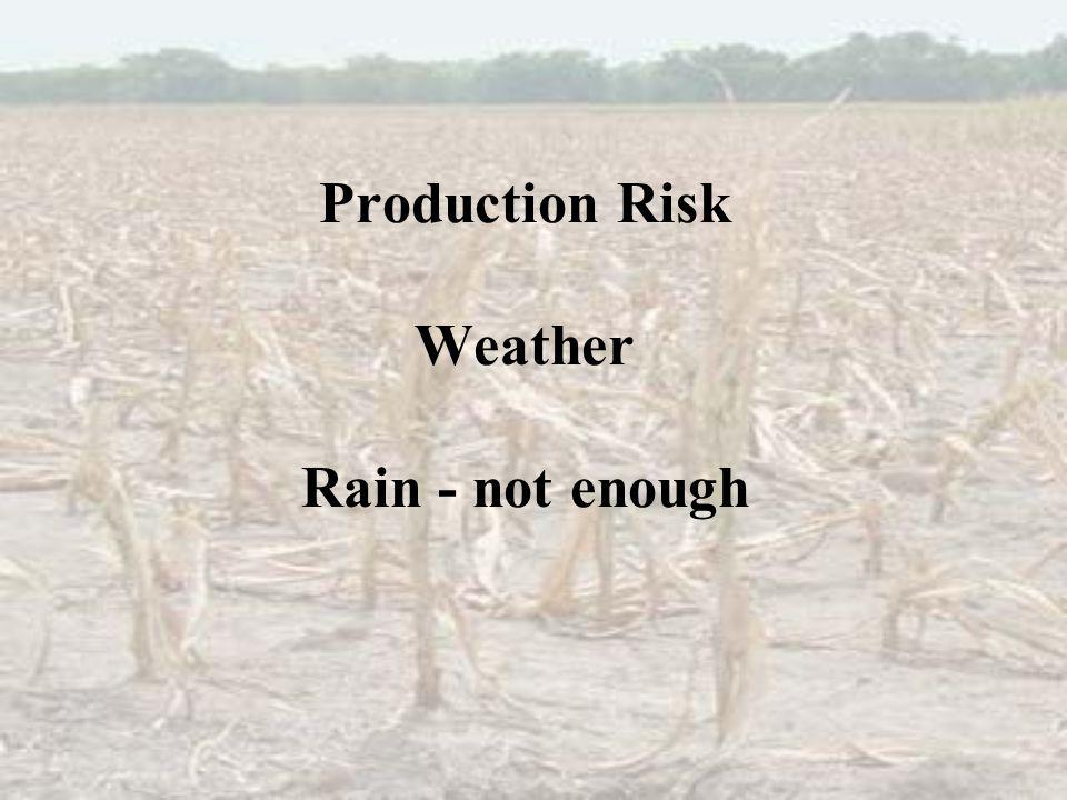 Production Risk Weather Rain - not enough