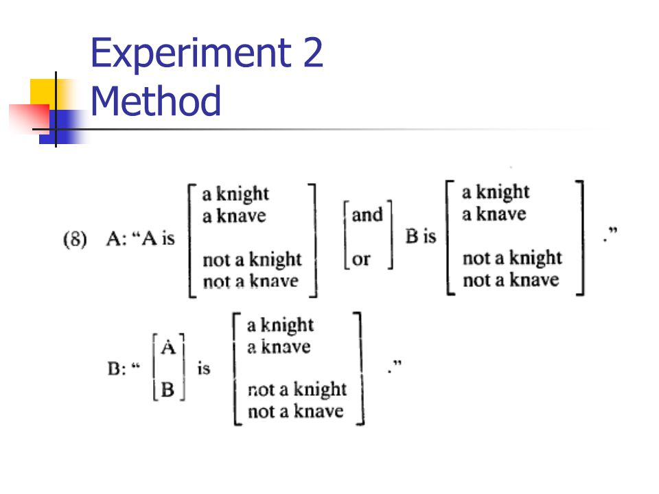 Experiment 2 Method