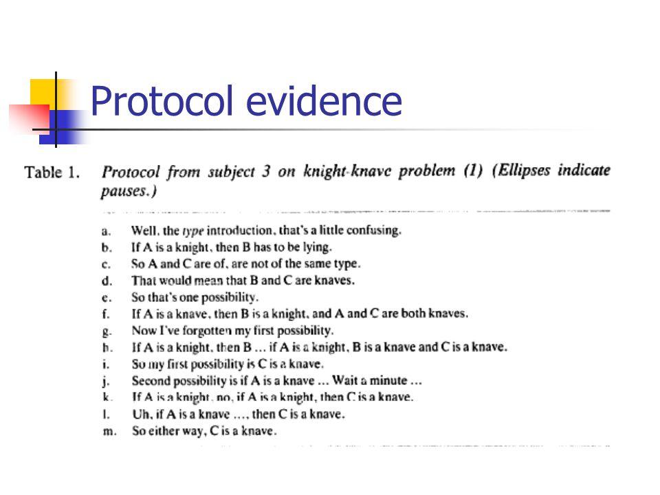 Protocol evidence