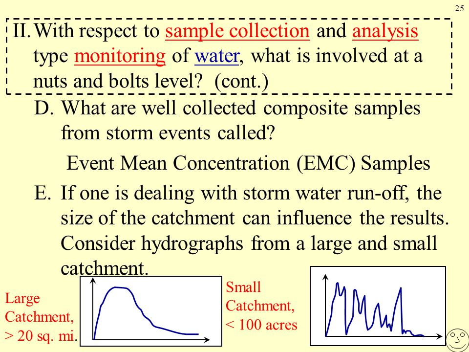 25 D.What are well collected composite samples from storm events called.