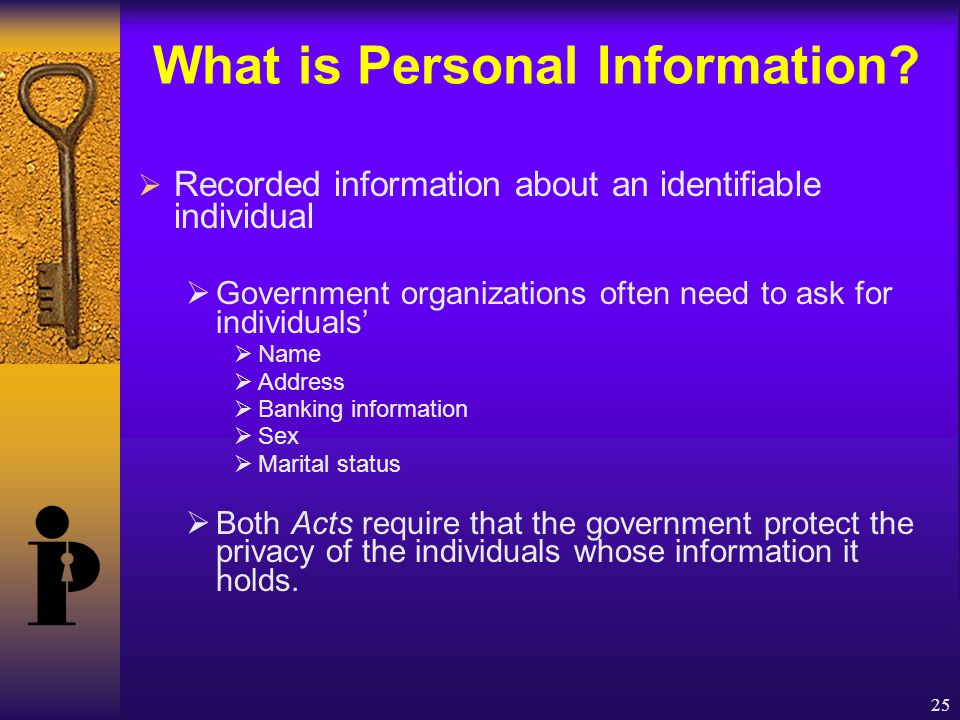 25 What is Personal Information.