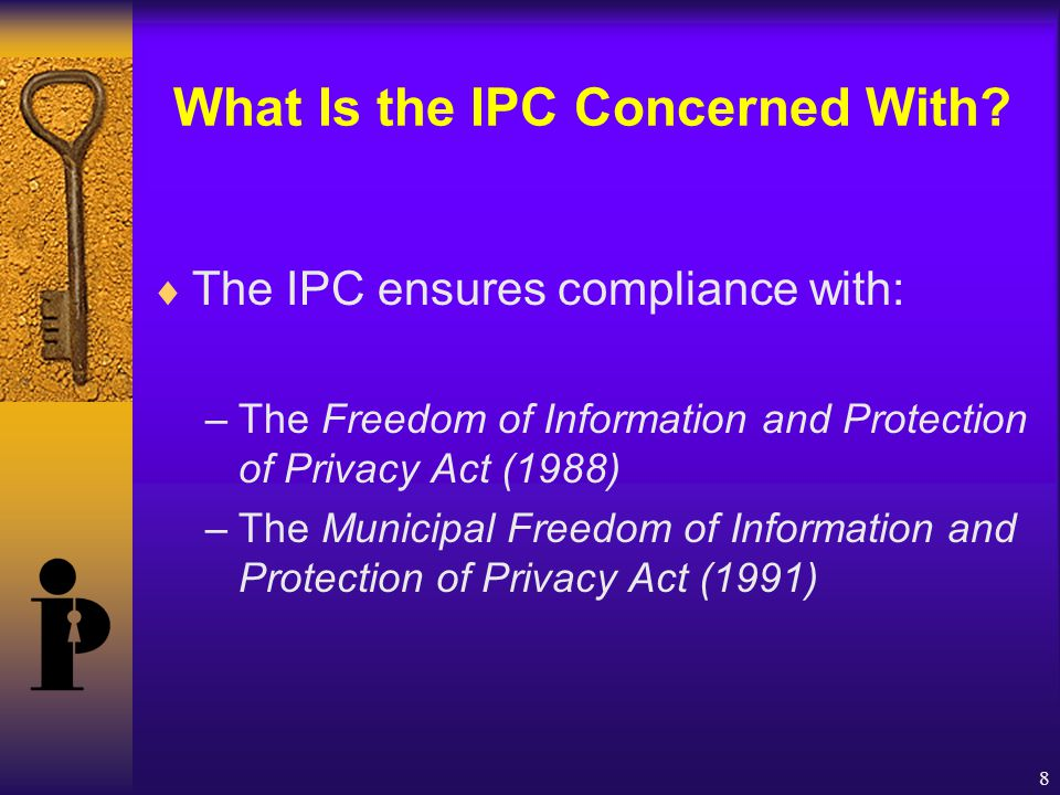 8 What Is the IPC Concerned With.