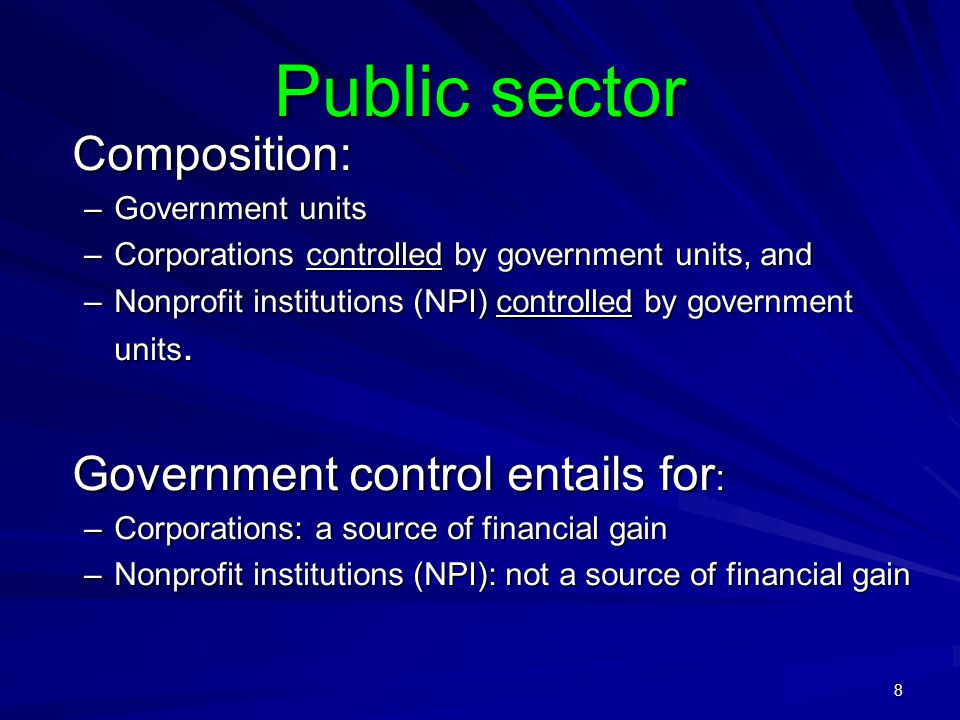9 Control of Corporations Definition of control: Current: ability to determine the general corporate policy Proposed: power to govern financial and operating policies so as to benefit from activities of corporations