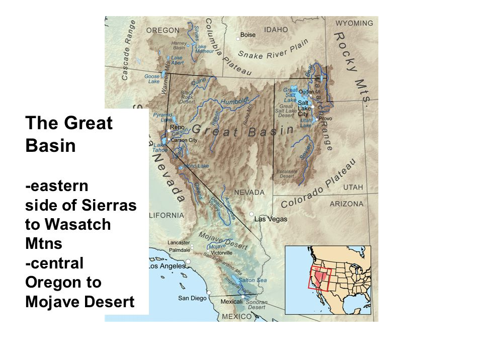 Why focus on the Great Basin.