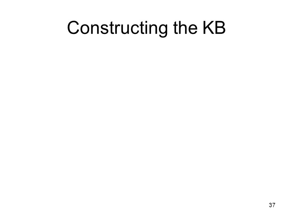 37 Constructing the KB