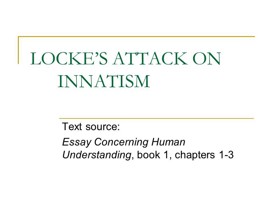 THE DOCTRINE(S) OF INNATISM 'INNATISM', a.k.a.