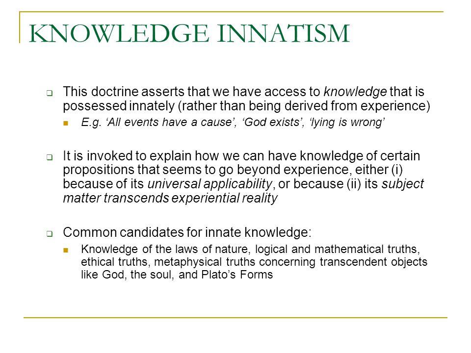 IDEA INNATISM (a.k.a.
