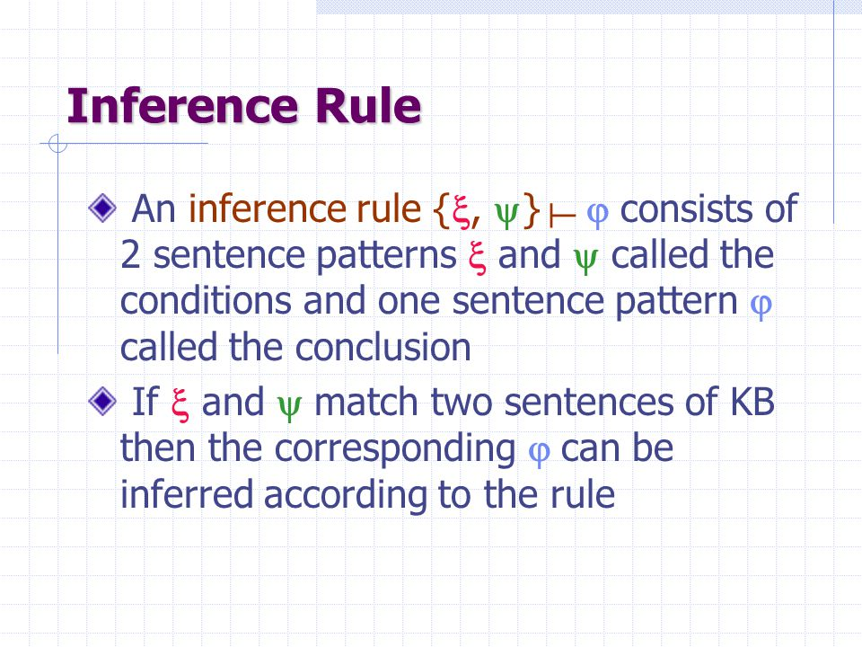 Logical Entailment KB : set of sentences  : arbitrary sentence KB entails  – written KB  – iff every model of KB is also a model of  Alternatively, KB  iff {KB,  } is unsatisfiable KB   is valid