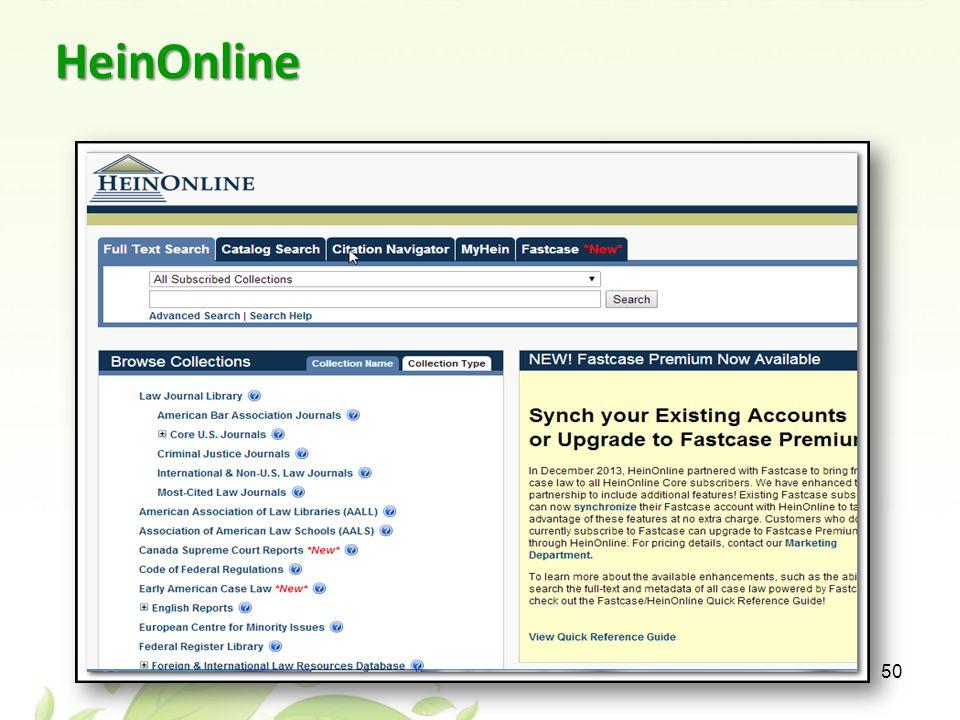 HeinOnline 50