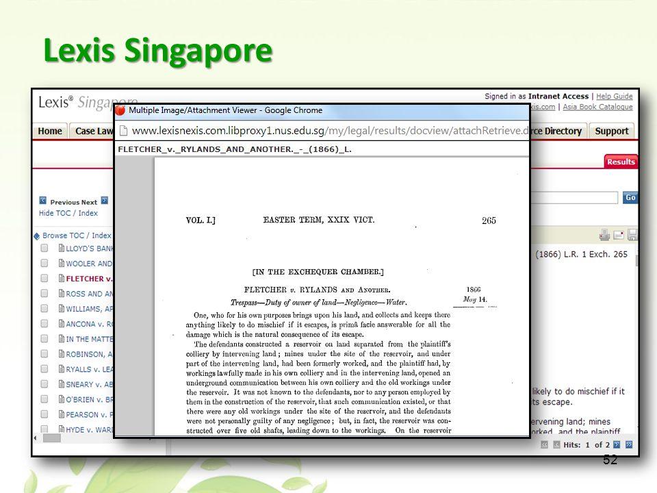 Lexis Singapore 52