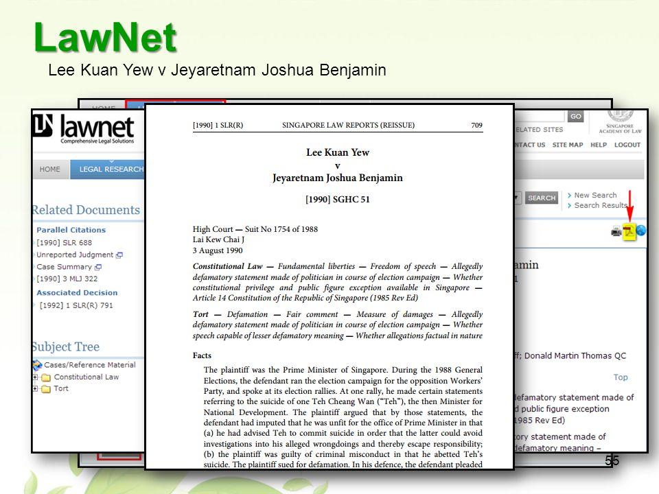 LawNet Lee Kuan Yew v Jeyaretnam Joshua Benjamin 55