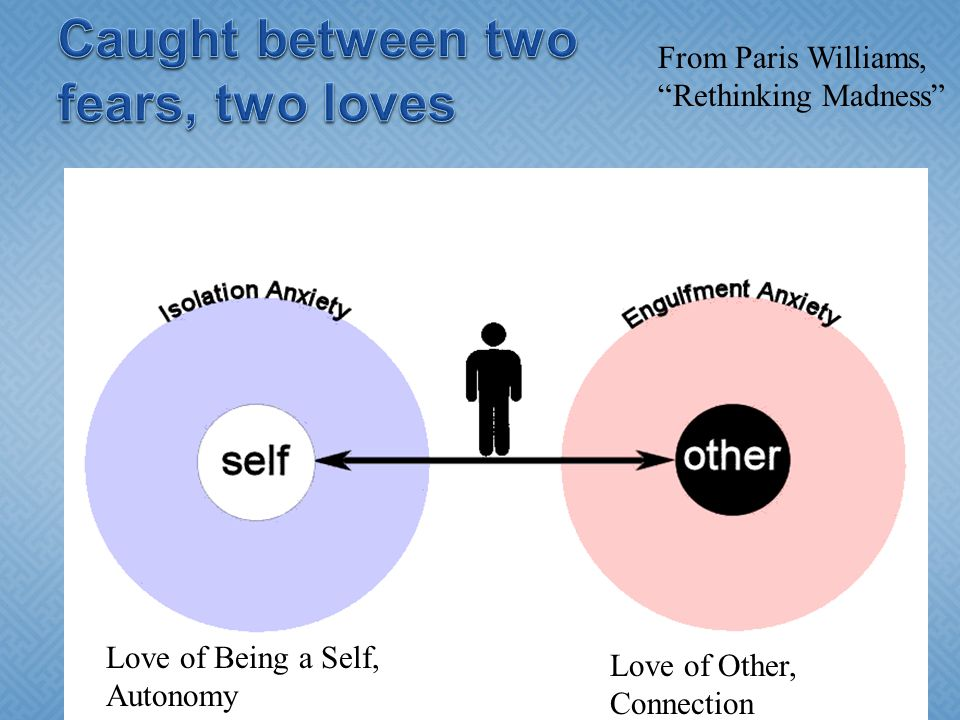 Love of Being a Self, Autonomy Love of Other, Connection From Paris Williams, Rethinking Madness