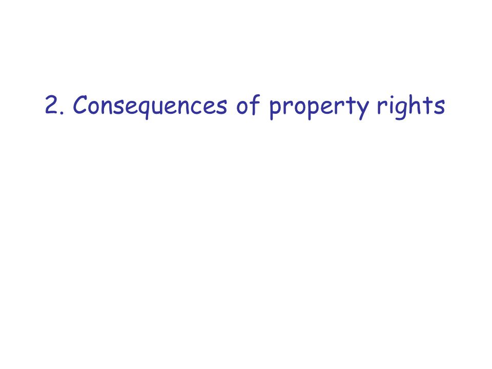 2. Consequences of property rights
