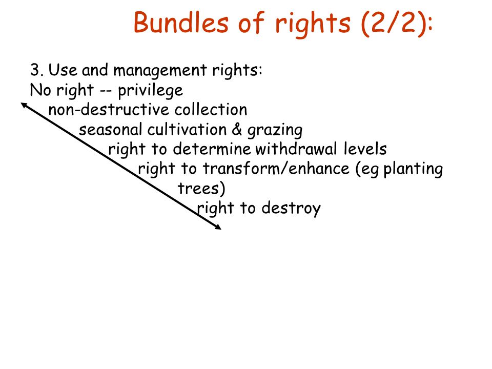 Tenure defined the distribution, assurance, breadth and duration of rights and duties to resources / property.