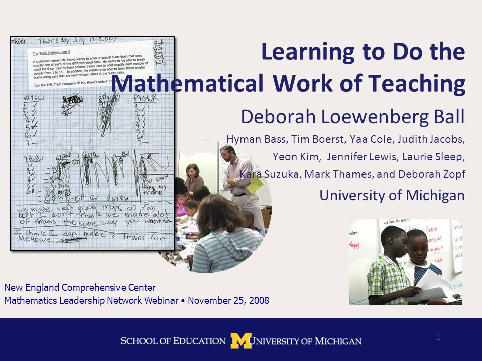 Designing MKT tasks What distinguishes a good mathematics task from a good MKT task.
