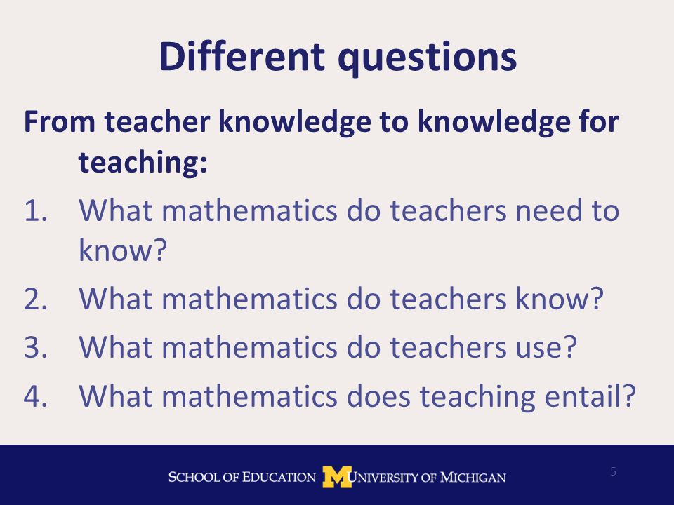 Discussion What are the challenges of shifting the focus in professional development to the mathematical work of teaching .