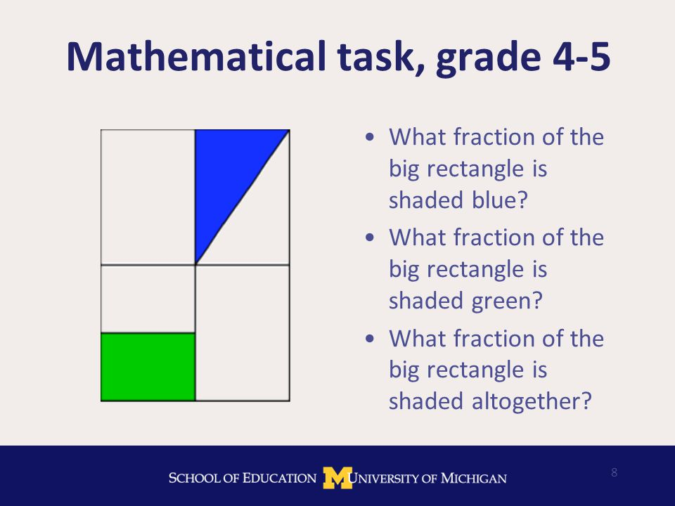 19 Our approach to the problem Find/develop tasks that create opportunities for learning mathematical knowledge for teaching Situate teachers' opportunities to learn in the contexts of use Provide opportunities to practice the kinds of mathematical thinking, reasoning, and communicating used in teaching Enact tasks in ways that maintain the focus on developing MKT and the ability to use it in teaching