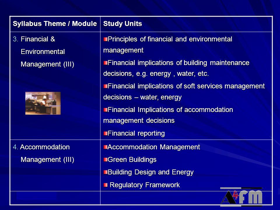 © Academy Syllabus Theme / Module Study Units 3.