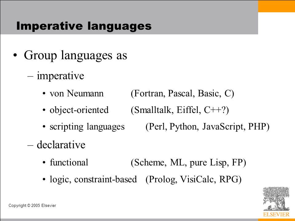 Copyright © 2005 Elsevier An Overview of Compilation Lexical and Syntax Analysis –GCD Program (Pascal)