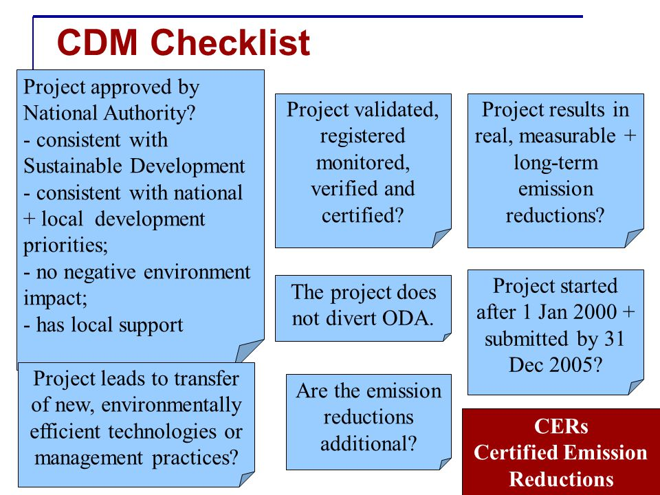 CDM Checklist Project approved by National Authority.