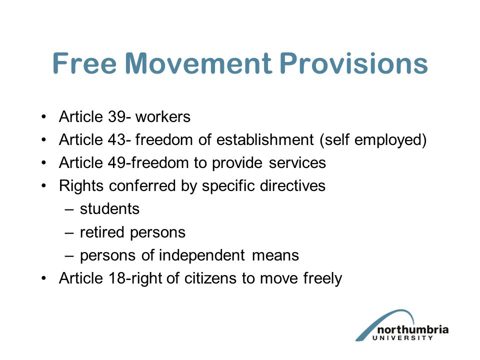Article 39 1.Freedom of movement of workers shall be secured within the Community.