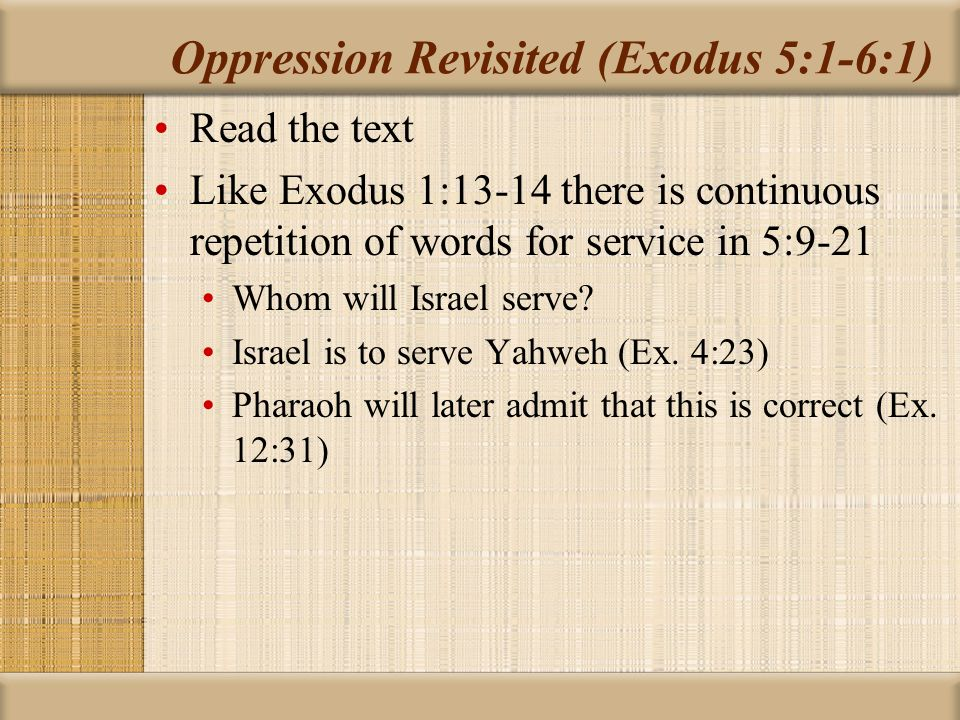 Hardening of Pharaoh's Heart Like the prophets, Moses warns of a judgement that will at some point be inevitable without repentance Interaction between hardened hearts and choices is found in language about Israel as well (Ps.