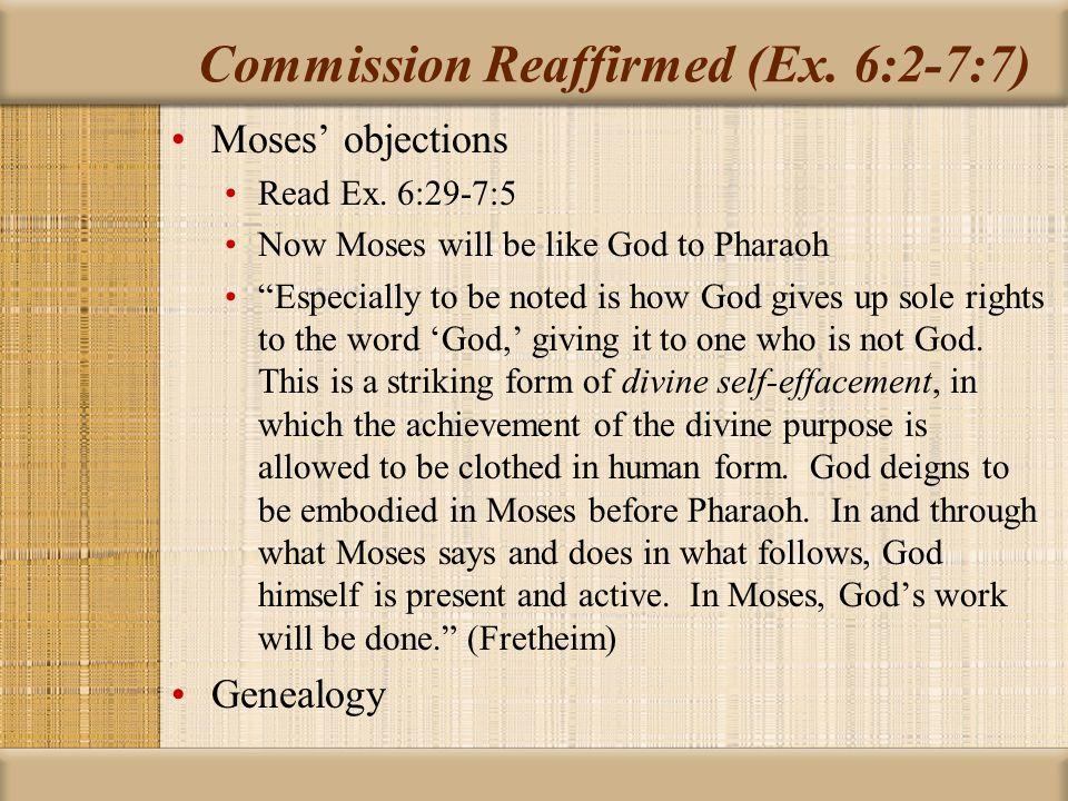 Commission Reaffirmed (Ex.