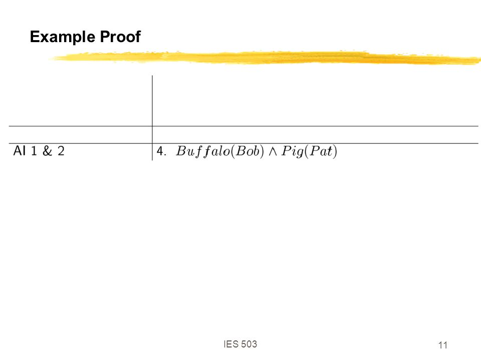 IES 503 11 Example Proof