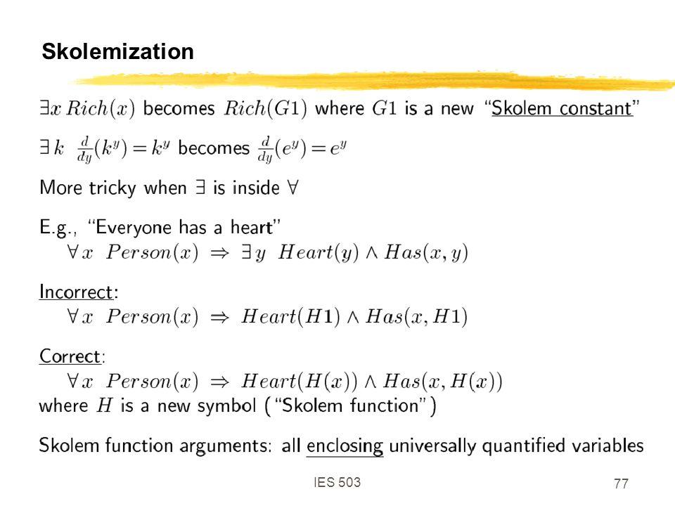 IES 503 77 Skolemization
