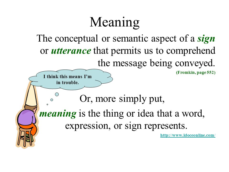 Chapter 5 The Meaning of Language Don't Be Afraid..!