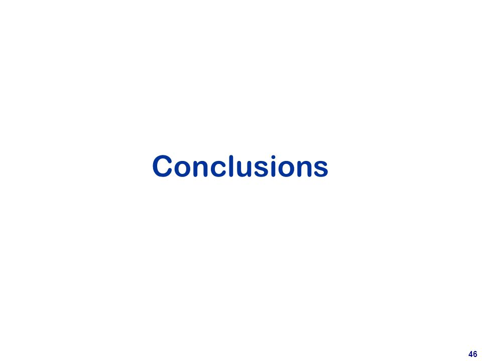 46 Conclusions