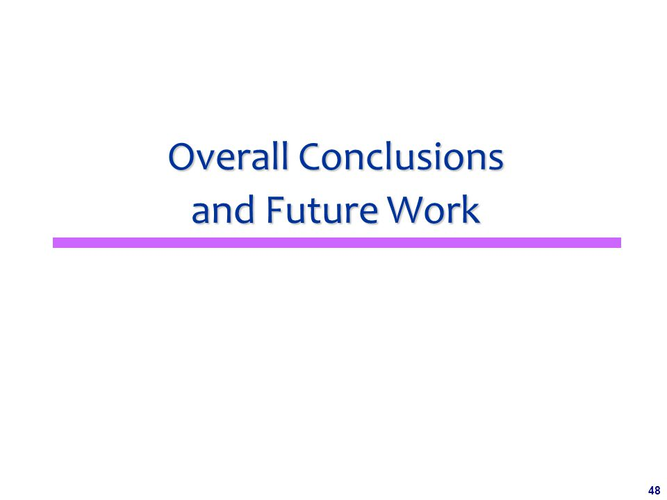48 Overall Conclusions and Future Work