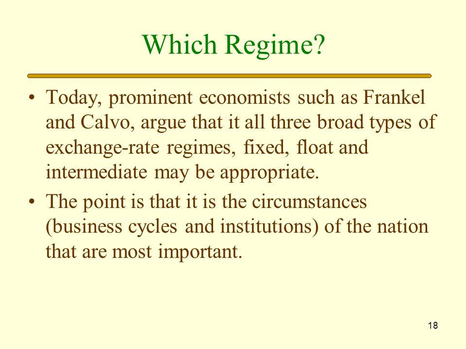 18 Which Regime.