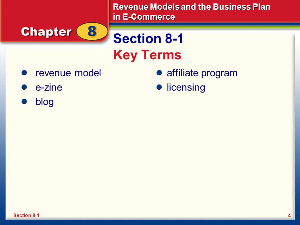 Revenue Models and the Business Plan in E-Commerce What Is a Revenue Model.